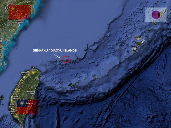 Senkaku / Daiyu Islands Map