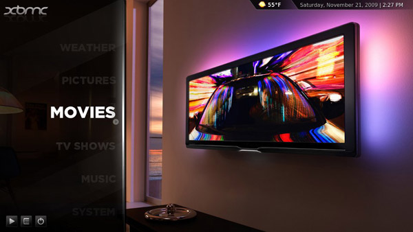 xbmc using the Confluence skin