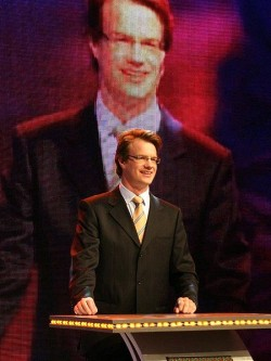 Dashan (Mark Rowswell) hosting a live broadcast for China Central Television in November 2006
