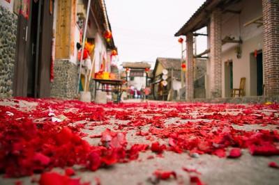 Spring Festival street scene