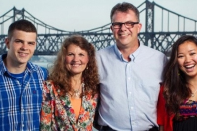 Canadian couple, center, accused of spying in China.