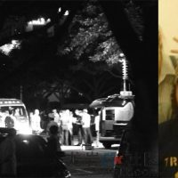 Xiamen police and ambulance at the scene of the murder (left), unconfirmed photo of convicted murderer Phillip Martin (right). source WOX.