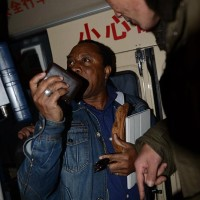 The victim reclaims his stolen wallet