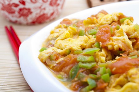 Photo: Stir-fried Eggs and Tomato (Xihongshi Chao Ji Dan)