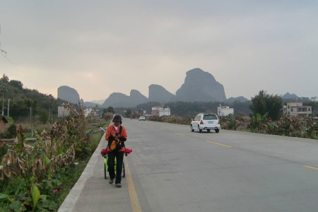 Ann, on the road in Guangdong