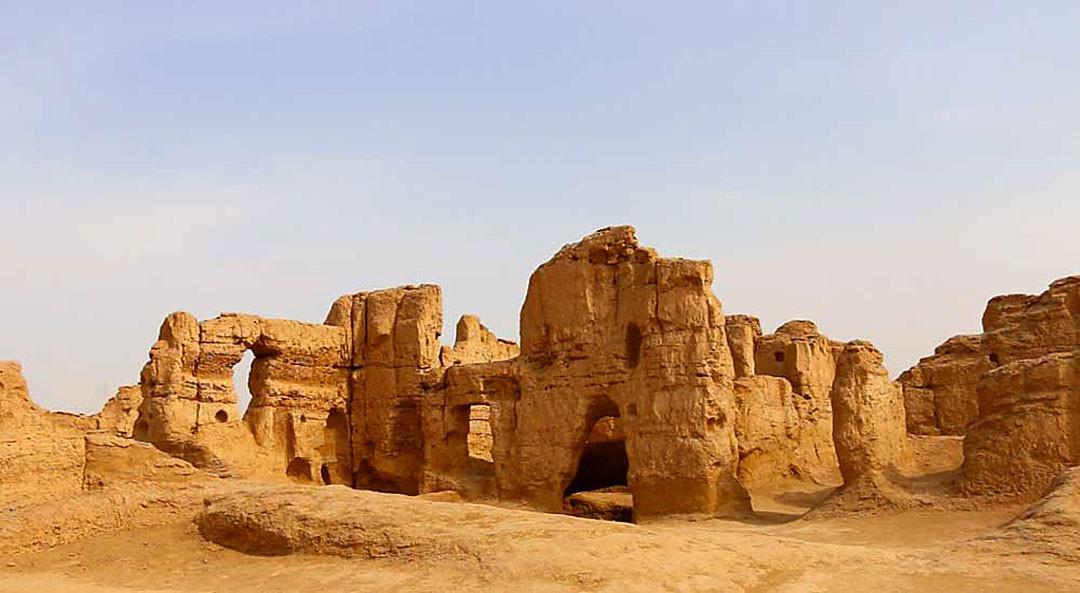 Xinjiang's Jiaohe City Ruins.